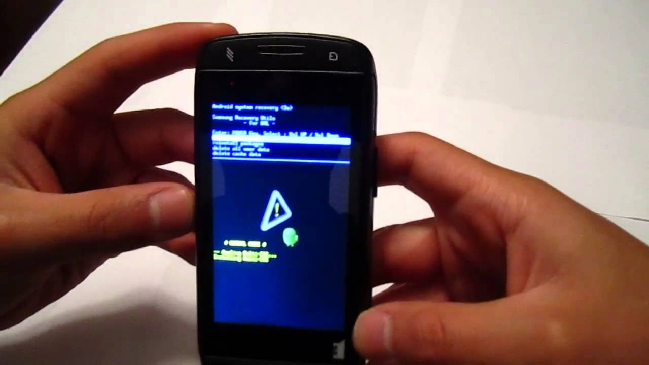 how to manually do a hard reset on a samsung