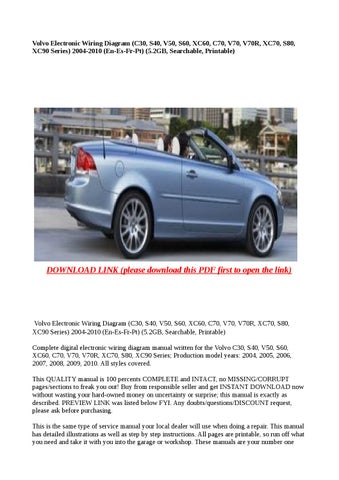2000 volvo s80 manual download