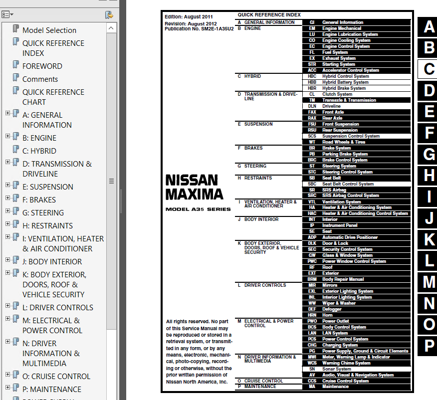 1995 nissan maxima repair manual pdf