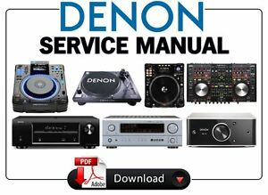 denon amplifier model poa-5200 service manual