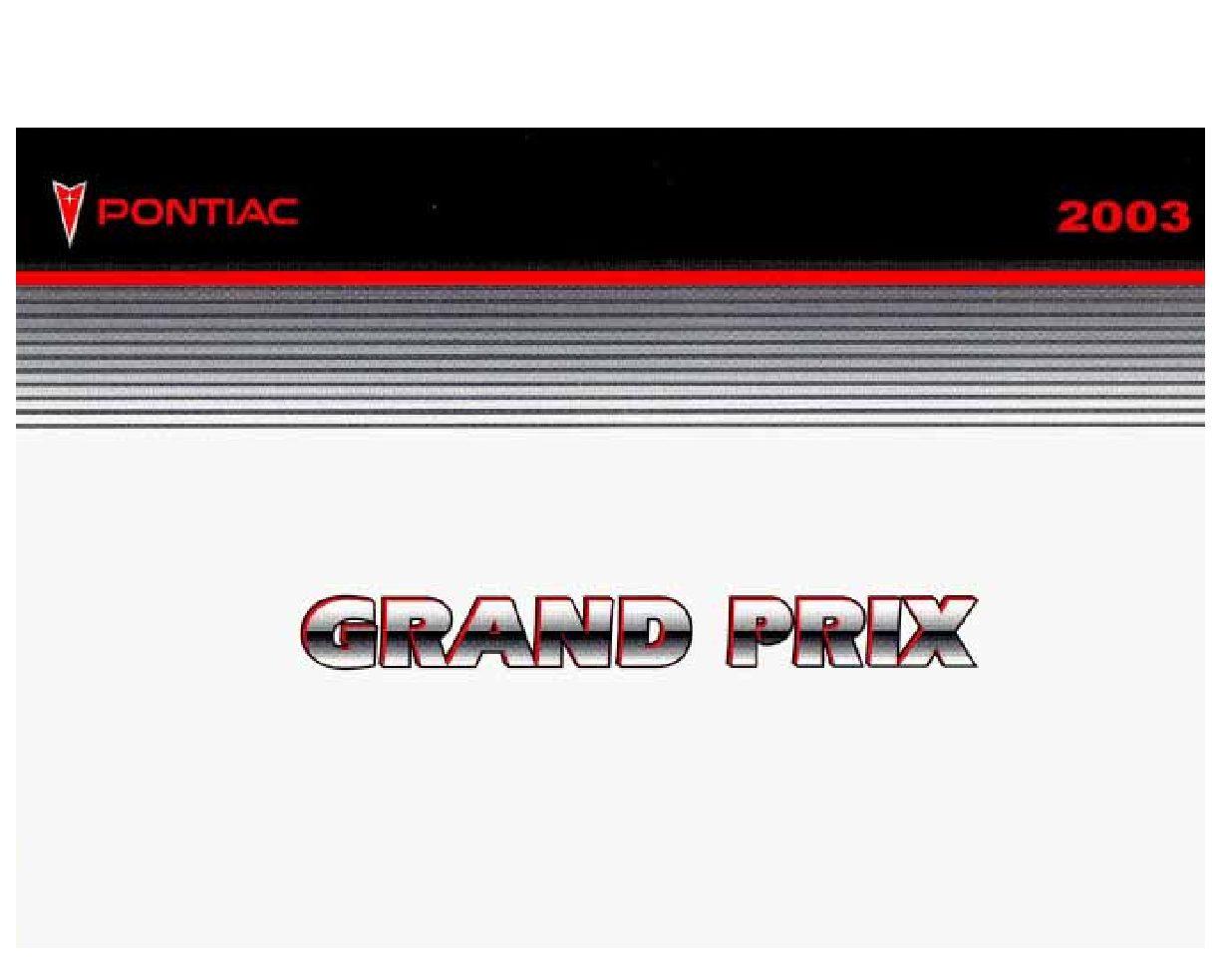 2003 pontiac grand prix owners manual download