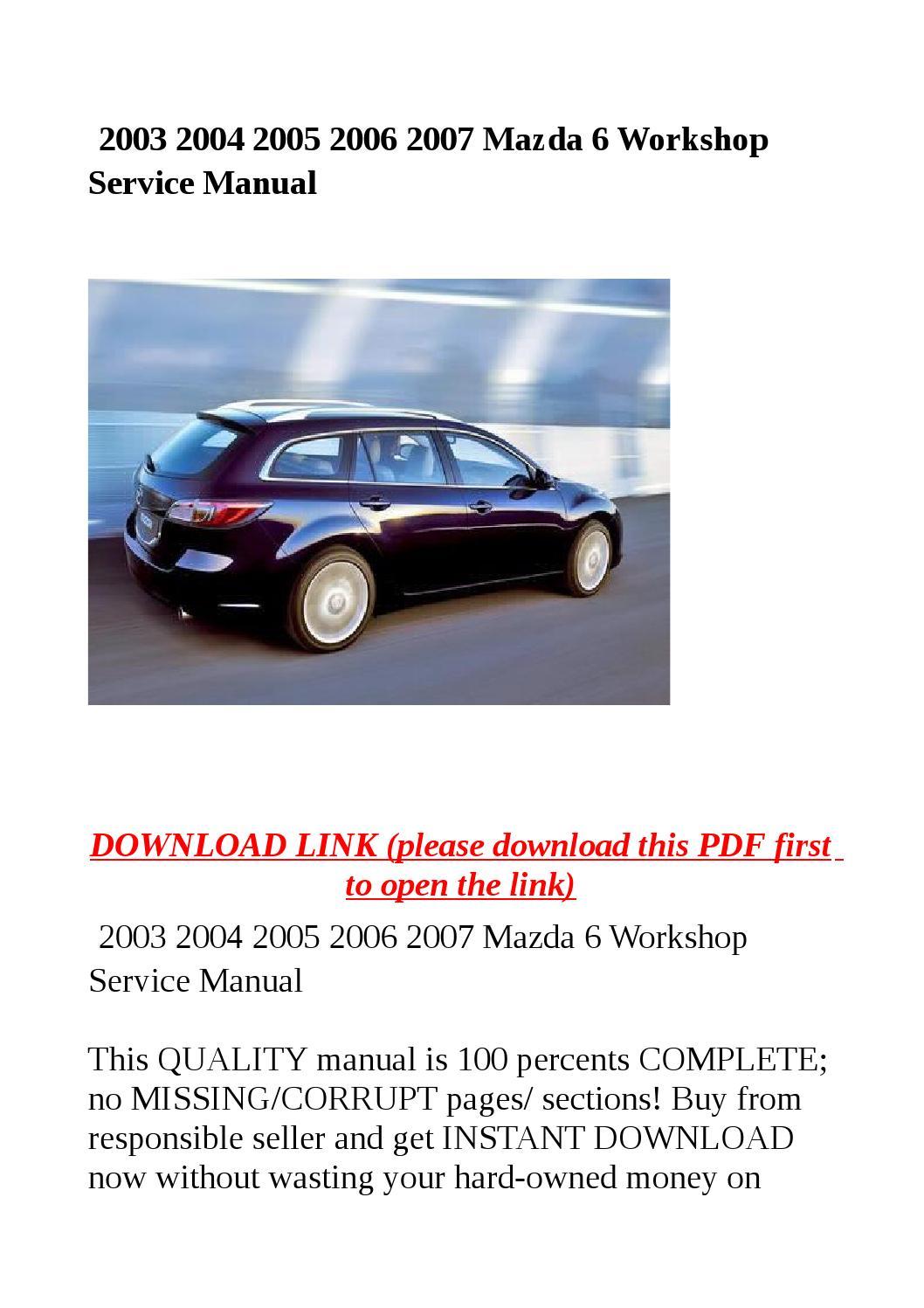 2005 mazda 3 repair manual pdf