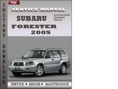 2003 subaru forester shop manual pdf