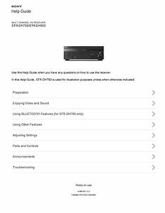 sony str dh750 manual pdf