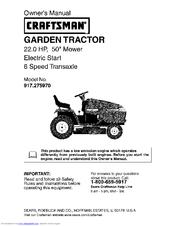 craftsman model 247.881721 owners manual