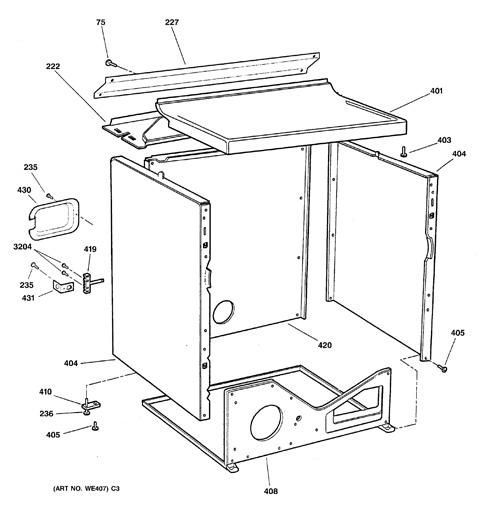 ge dryer model dbsr453eb2ww manual