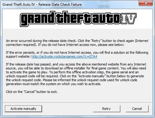 gta 4 manual activation code download