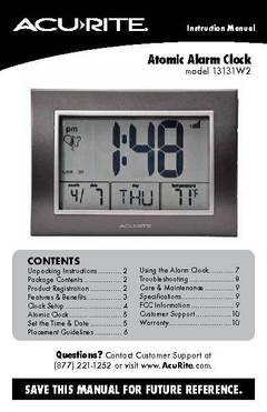 acurite model 01036 ca manual