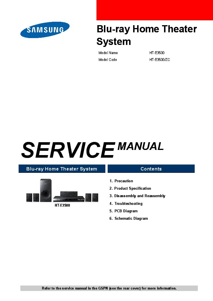 samsung model ht e3500 manual