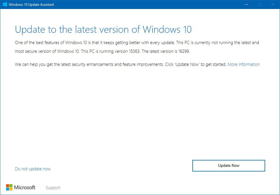 feature update to windows 10 version 1709 manual download