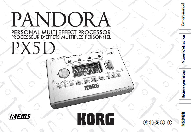 korg pandora px5d manual download