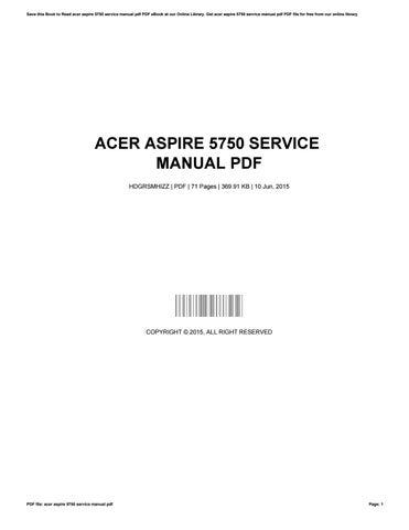 acer aspire 5750g manual pdf