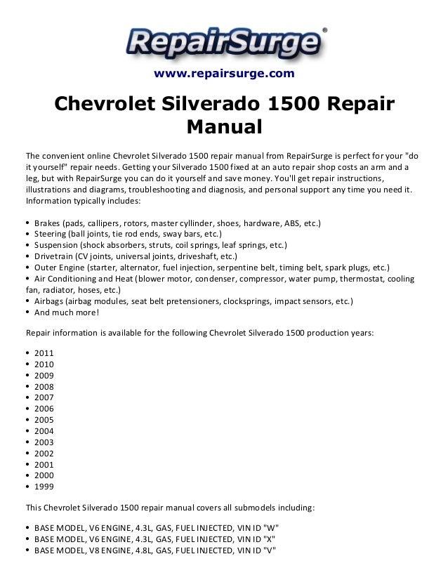 1994 chevy silverado repair manual pdf