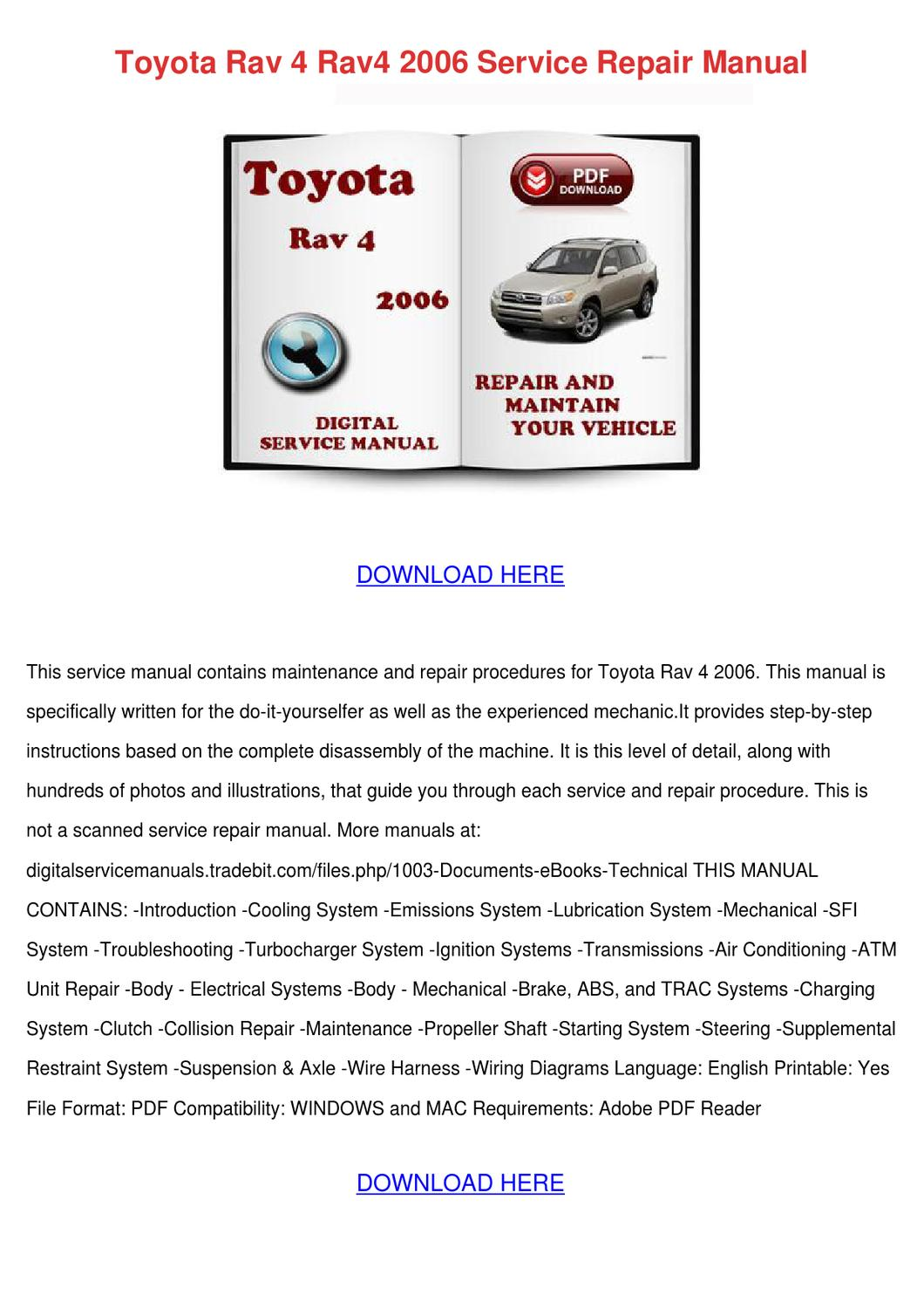 toyota rav4 repair manual download