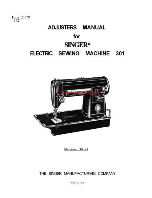 singer model 15 service manual