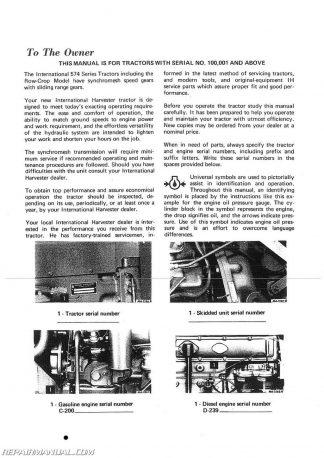 ih 574 repair manual download