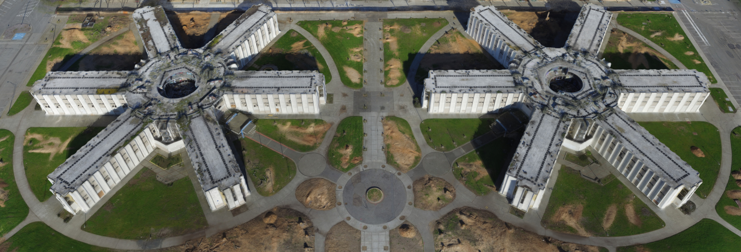 manually drone photo for 2d model