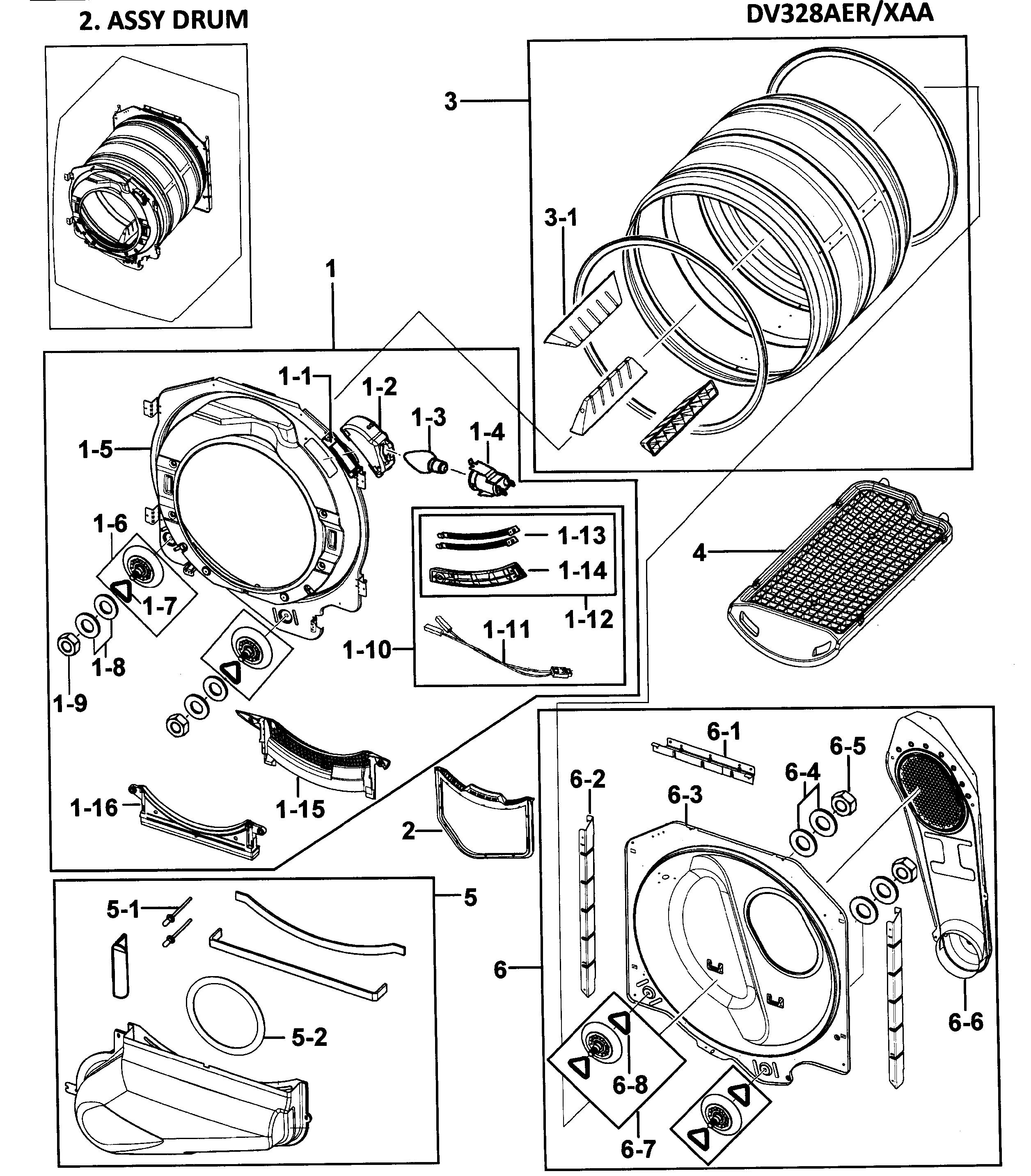 samsung dryer model dv4484agp xaa manual