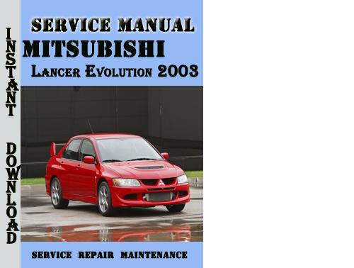 2003 mitsubishi lancer repair manual pdf