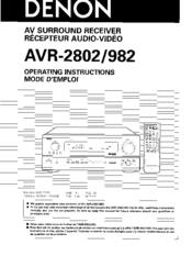 denon avr 2802 manual pdf