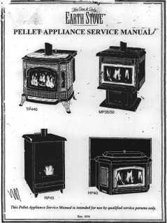 earth stove pellet stove model mp-240 manual