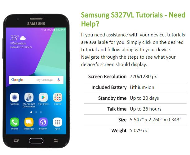 user manual for galaxy model sm-s767vl phone