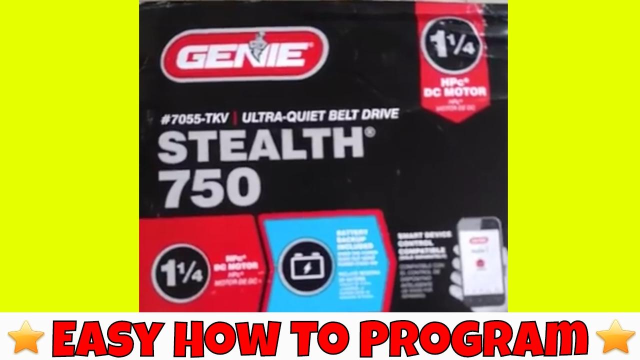 genie garage door opener model 7055 manual