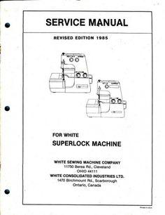 white superlock 534 manual free download