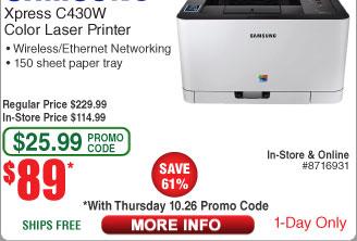 manuale stampante samsung xpress c430w