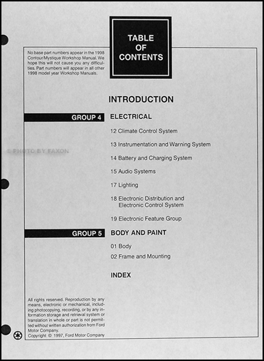 ford contour repair manual pdf
