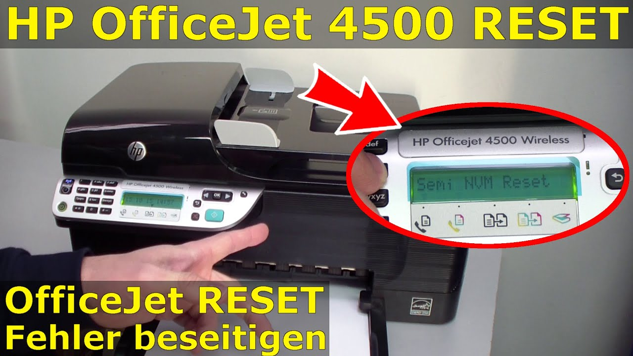 manuale stampante hp officejet 4500 wireless