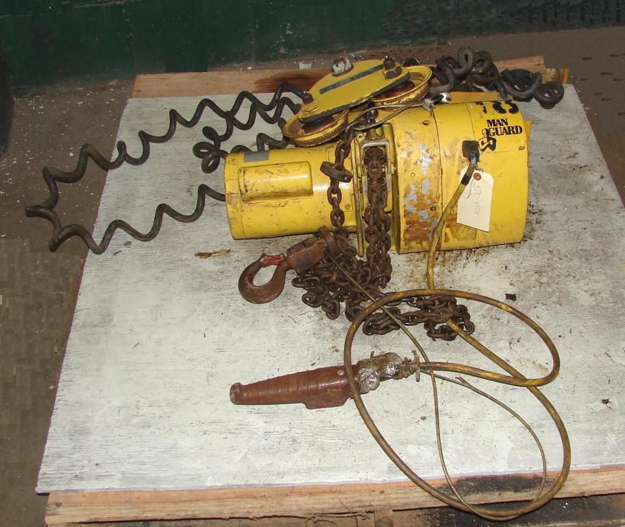 finding the model on budgit 1 ton chain hoist manual