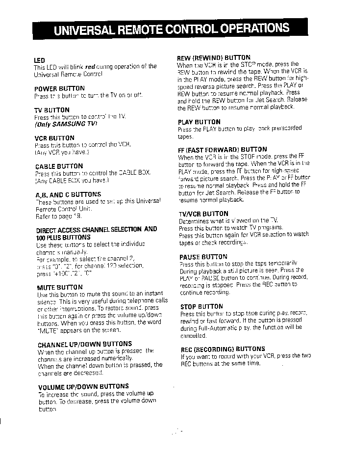 samsung remote control manual pdf