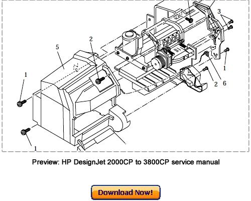 hp designjet 3000cp service manual