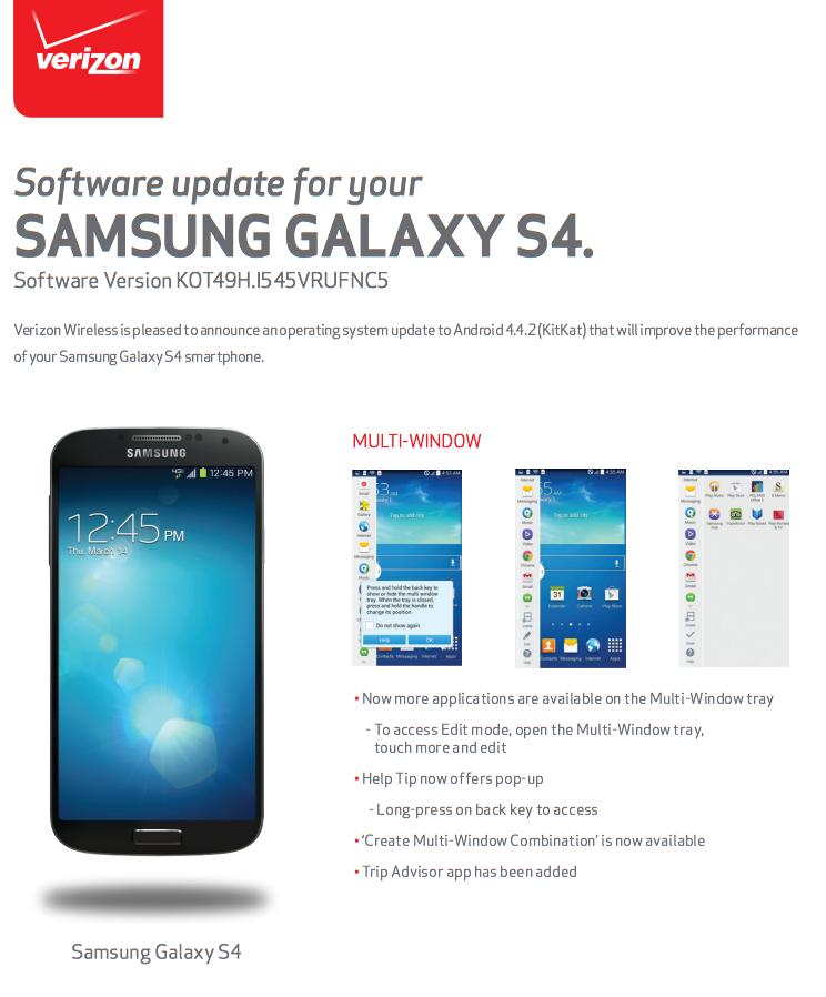 samsung galaxy s manual system update verizon