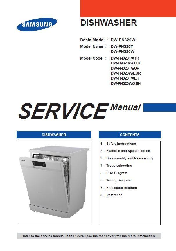 samsung dmr78 dishwasher repair manual