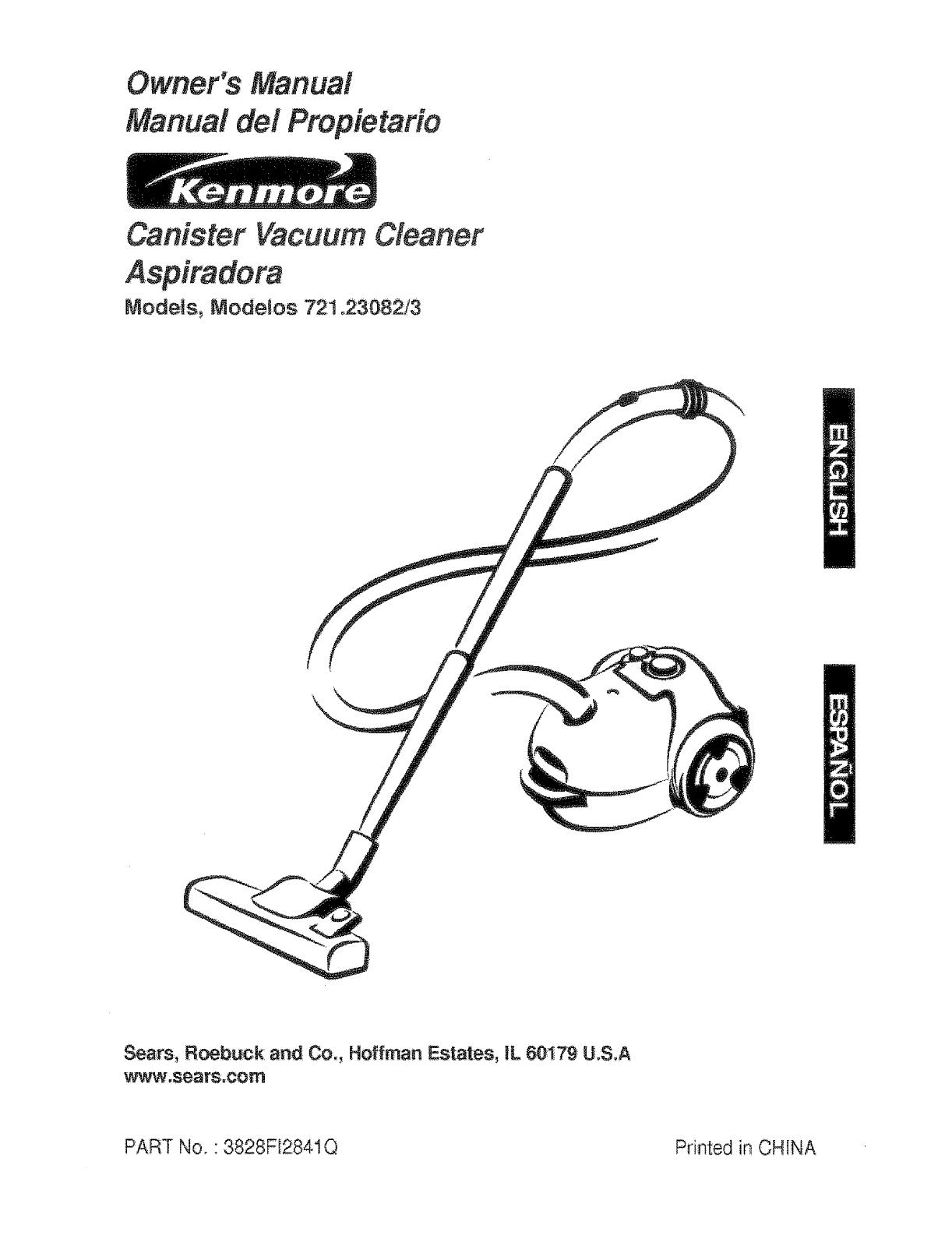 kenmore vacuum model 721 manual