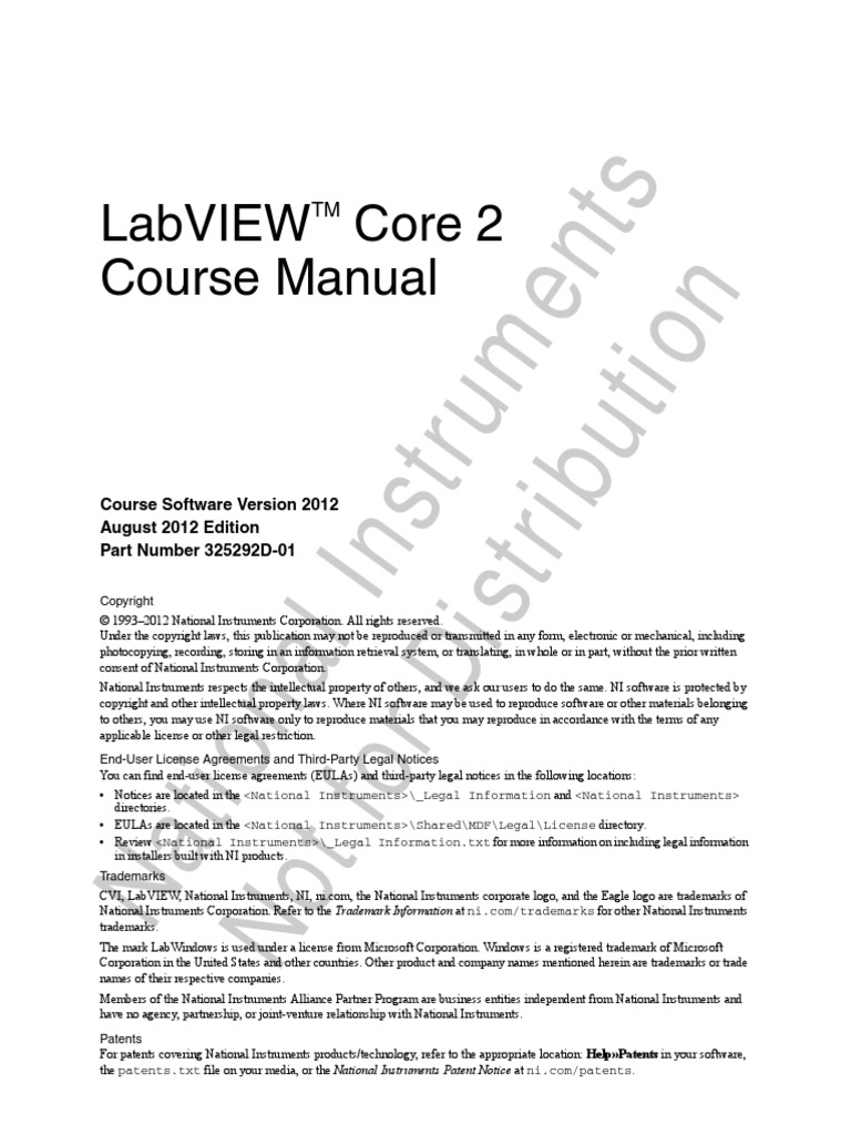 labview core 1 course manual pdf download