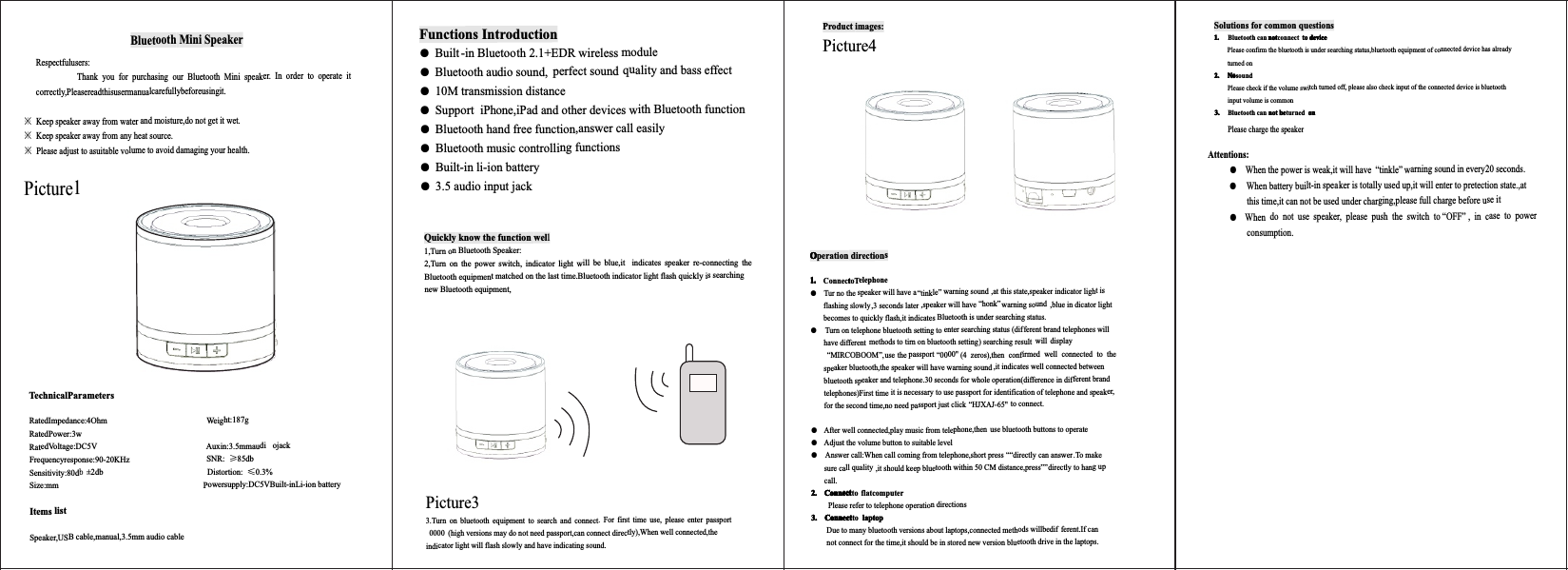 bluetooth model 56s user manual