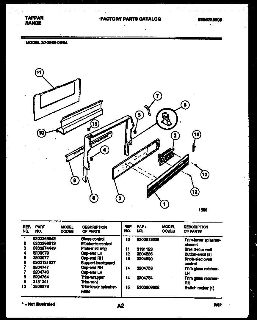 tappan electric stove model tef351ewc owners manual