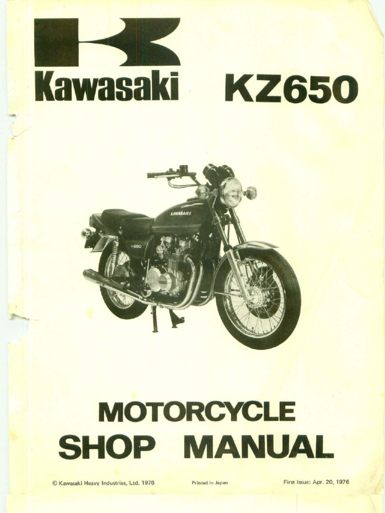 kawasaki kz650 service manual download