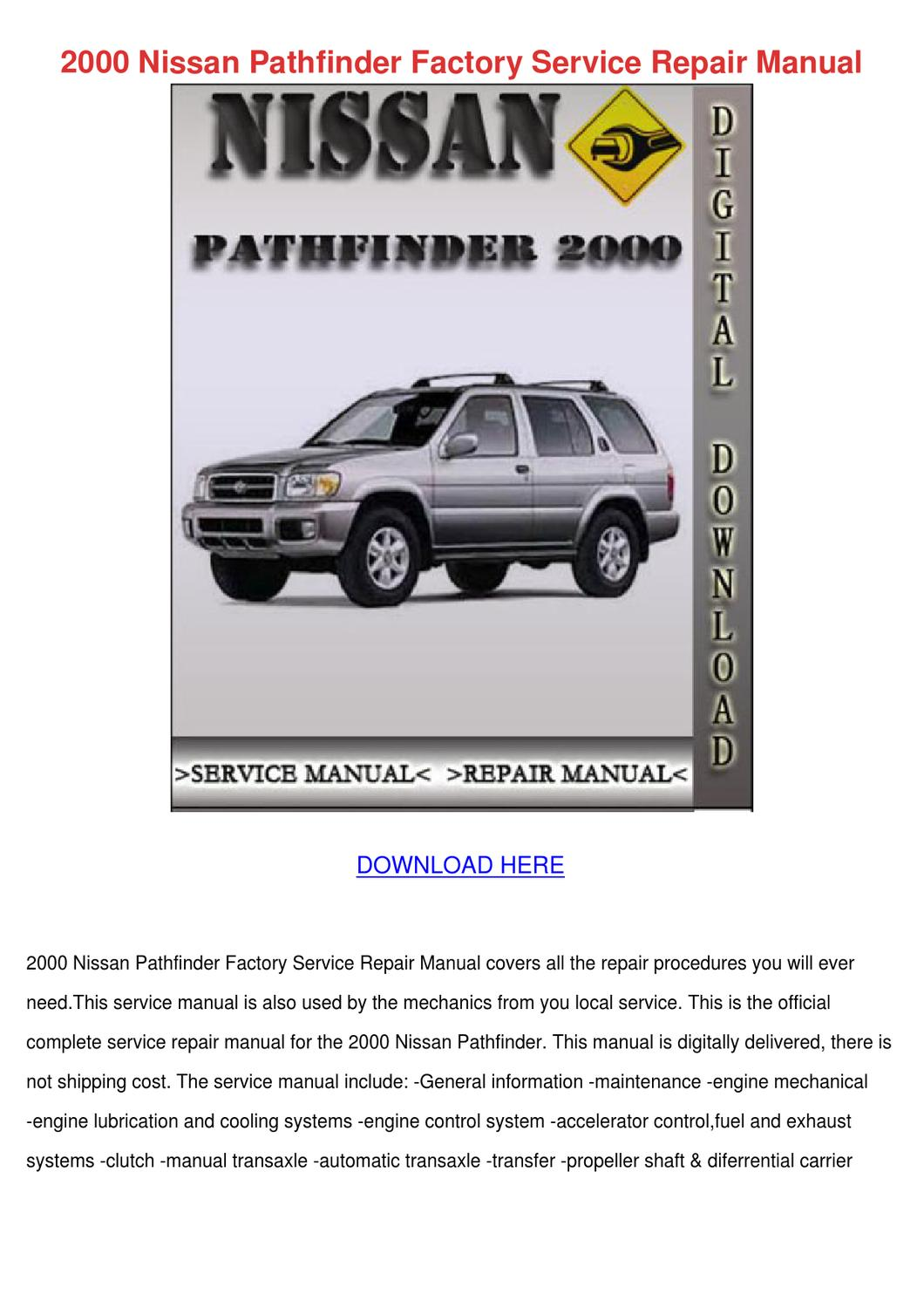 2000 nissan pathfinder repair manual download