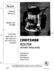 sears craftsman router model 315 manual