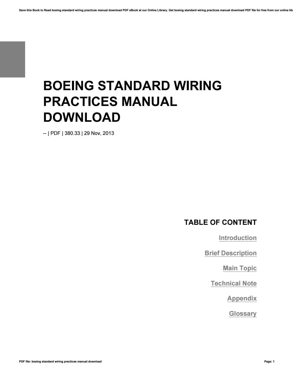 boeing standard wiring practices manual pdf