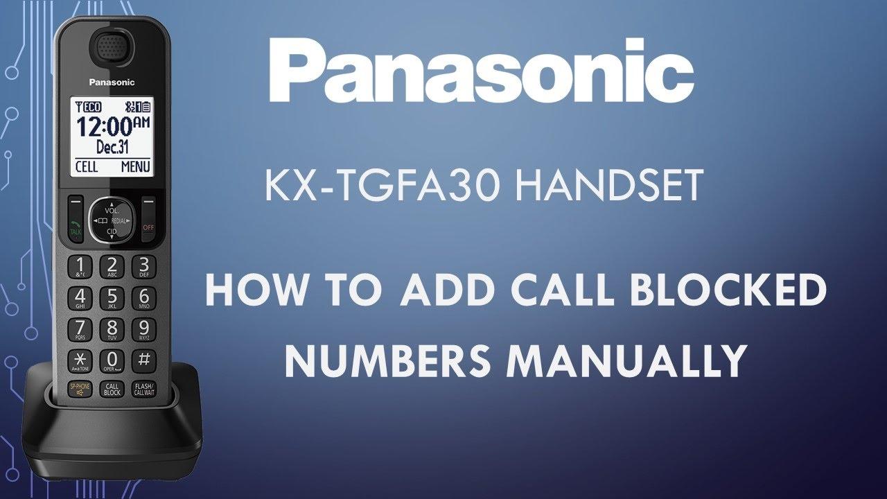 panasonic model kx-tgfa30 user manual