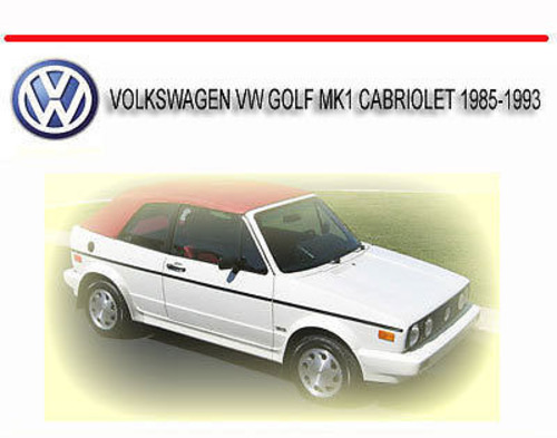 vw golf mk1 manual pdf