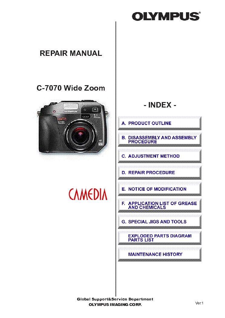 olympus c 7070 manual download