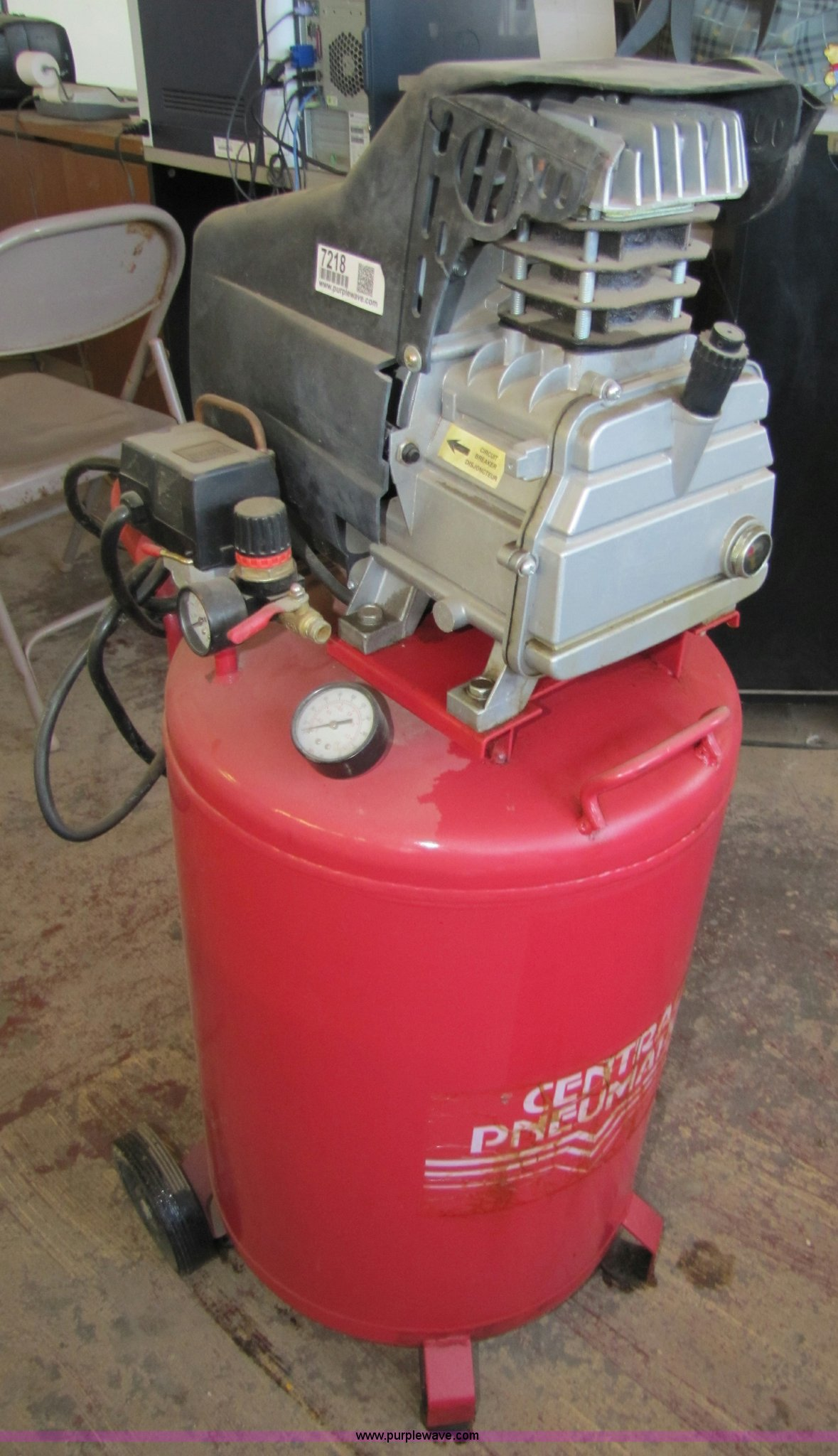central pneumatic air compressor model 94667 manual