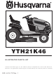 husqvarna model yth21k46 owners manual pdf