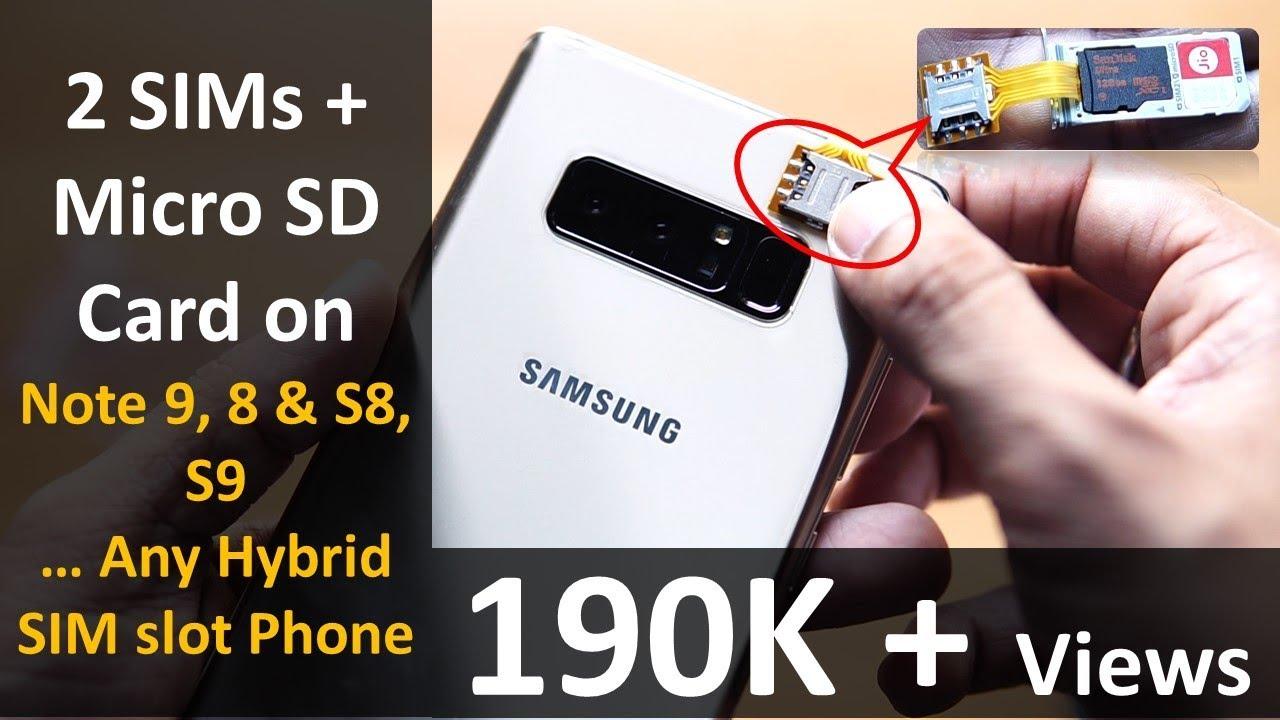 samsung s8 or s9 dual sim manual